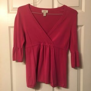 Hot pink LOFT blouse